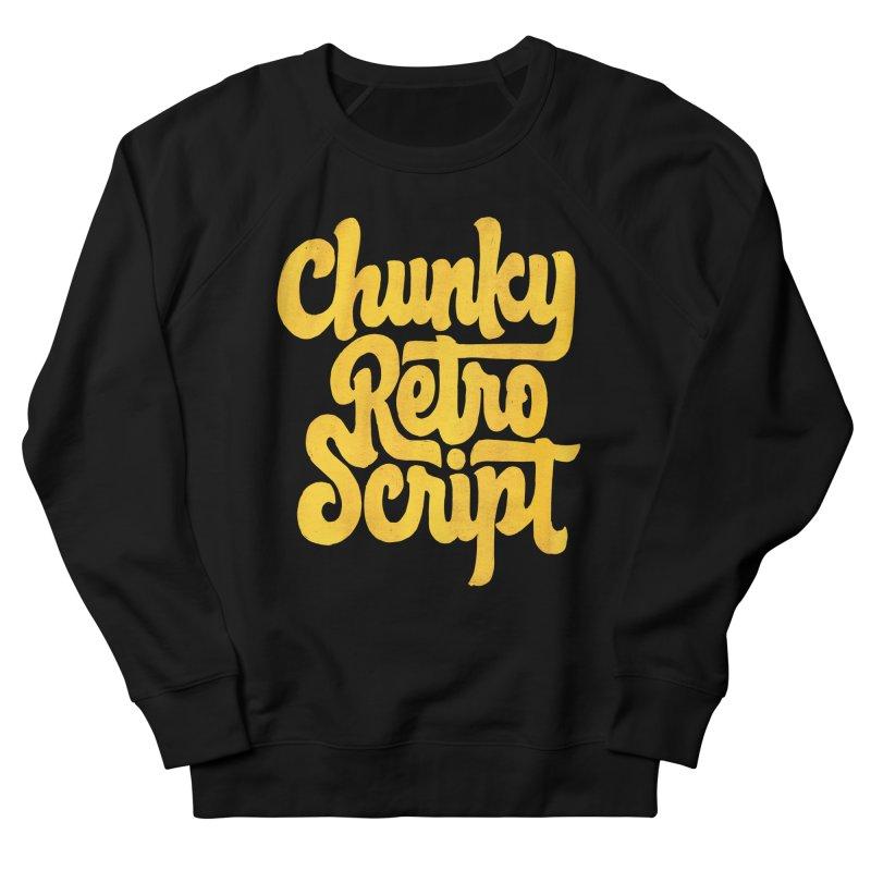 Chunky Retro Script Women's Sweatshirt by dandrawnthreads