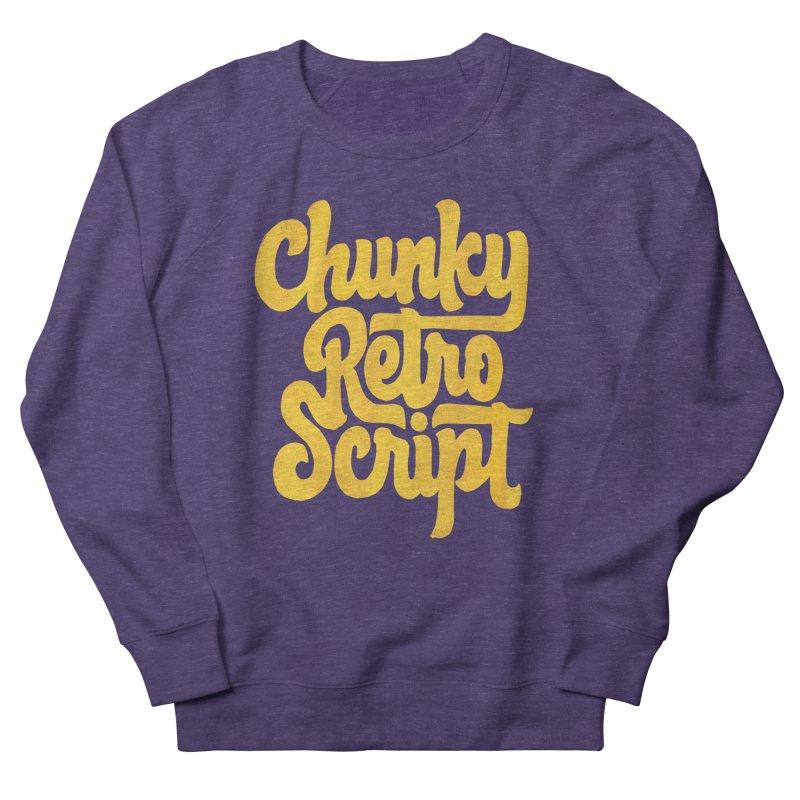 Chunky Retro Script Men's Sweatshirt by dandrawnthreads