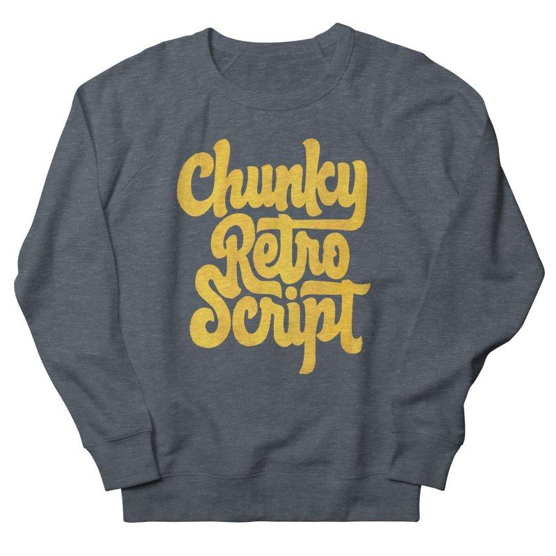 Chunky Retro Script Men's French Terry Sweatshirt by dandrawnthreads