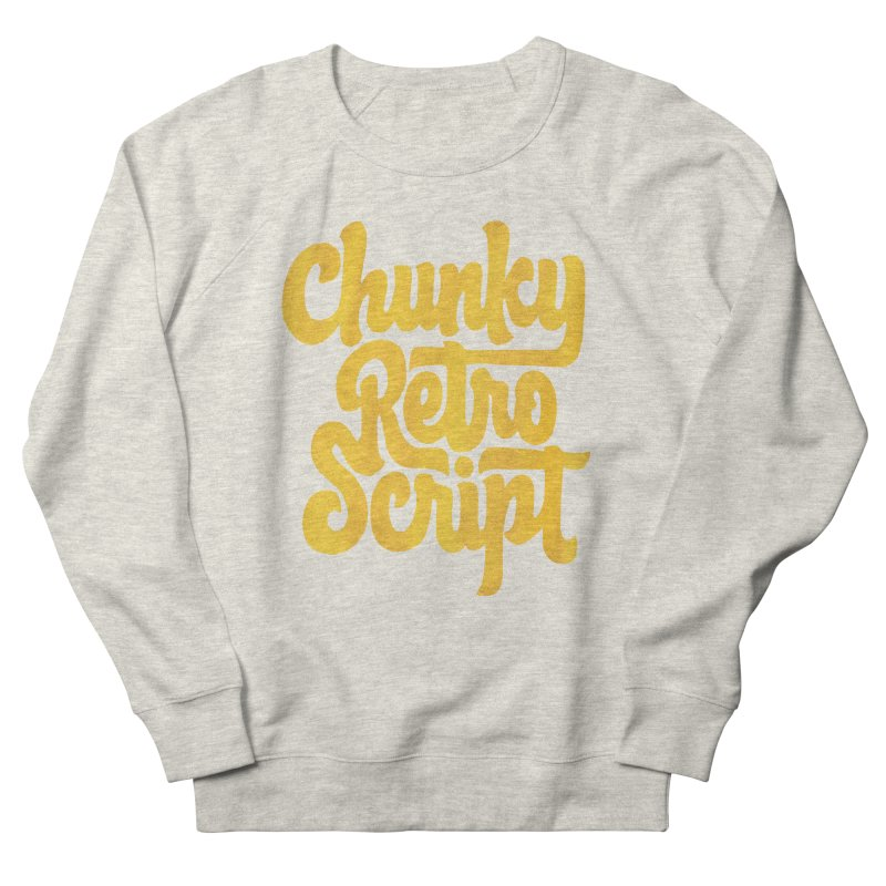 Chunky Retro Script Men's French Terry Sweatshirt by dandrawnthreads