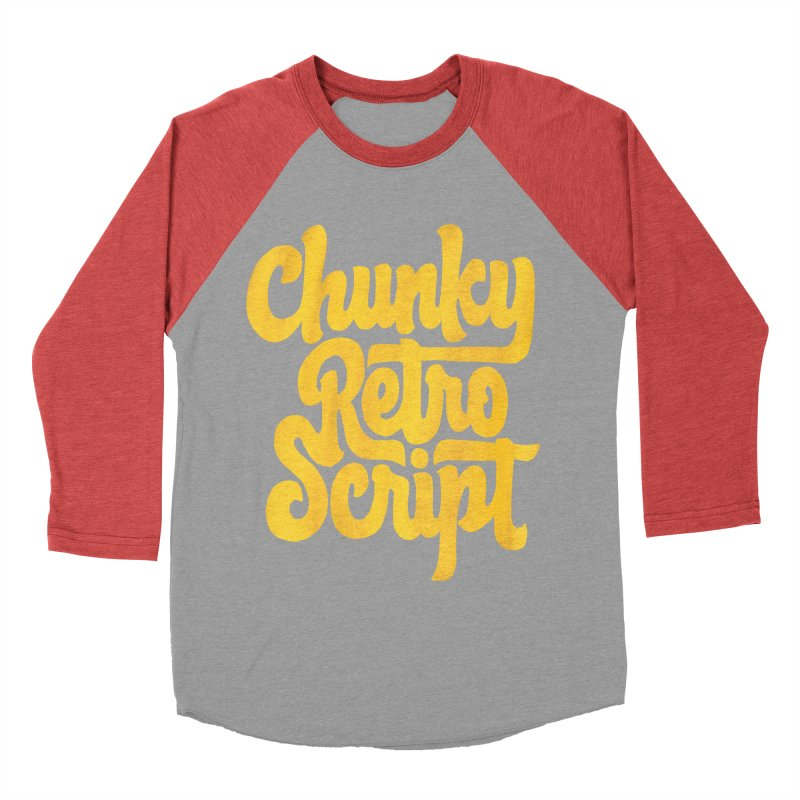 Chunky Retro Script Women's Baseball Triblend T-Shirt by dandrawnthreads