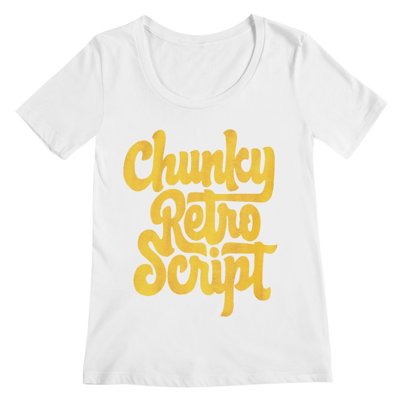 Chunky Retro Script Women's Regular Scoop Neck by dandrawnthreads