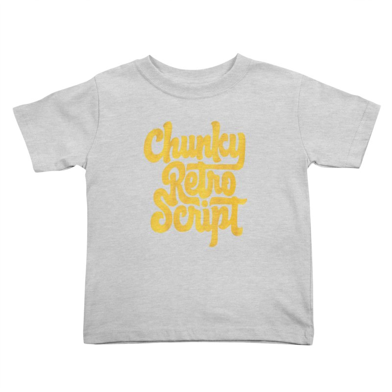Chunky Retro Script Kids Toddler T-Shirt by dandrawnthreads