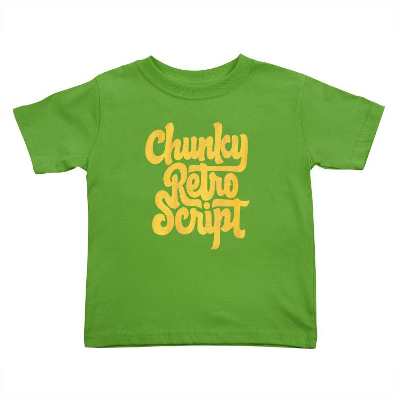 Chunky Retro Script Kids Toddler T-Shirt by dandrawnthreads