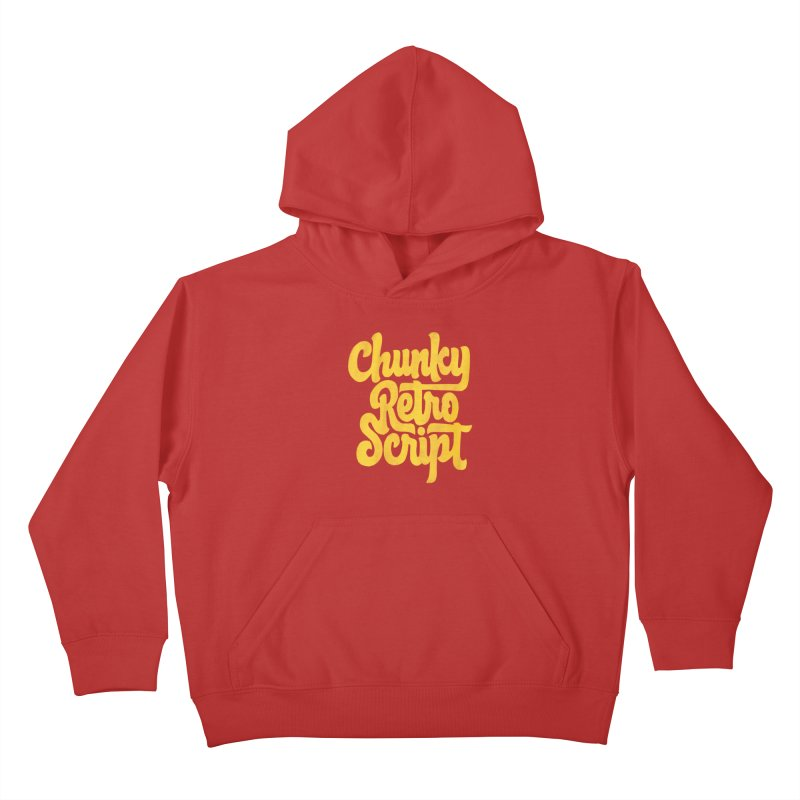 Chunky Retro Script Kids Pullover Hoody by dandrawnthreads