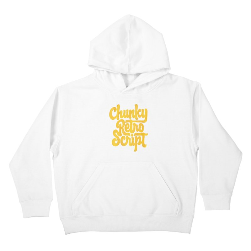Chunky Retro Script Kids Pullover Hoody by dandrawnthreads