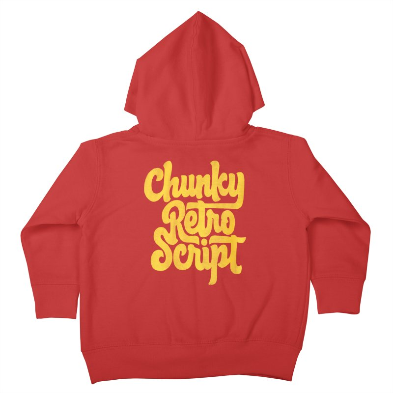 Chunky Retro Script Kids Toddler Zip-Up Hoody by dandrawnthreads