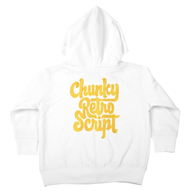 Chunky Retro Script Kids Toddler Zip-Up Hoody by dandrawnthreads