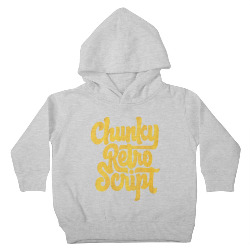 Chunky Retro Script Kids Toddler Pullover Hoody by dandrawnthreads