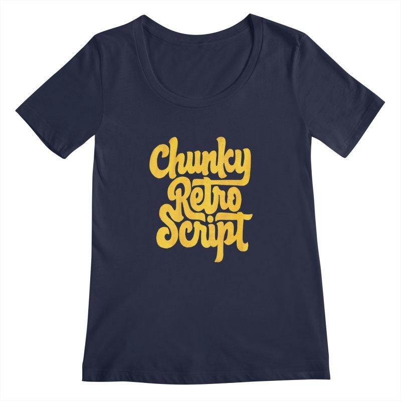 Chunky Retro Script Women's Regular Scoop Neck by dandrawnthreads