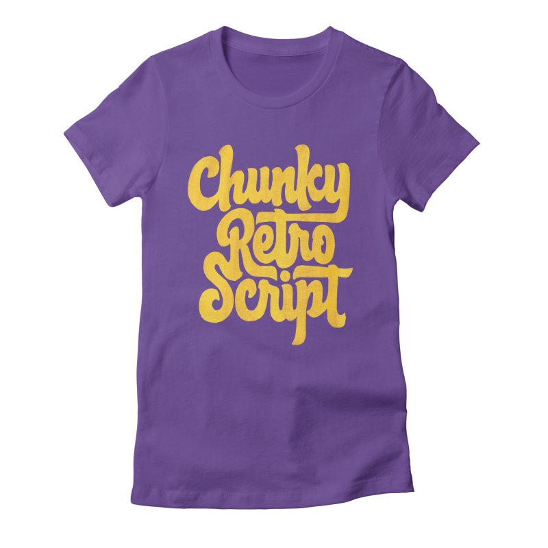 Chunky Retro Script Women's Fitted T-Shirt by dandrawnthreads