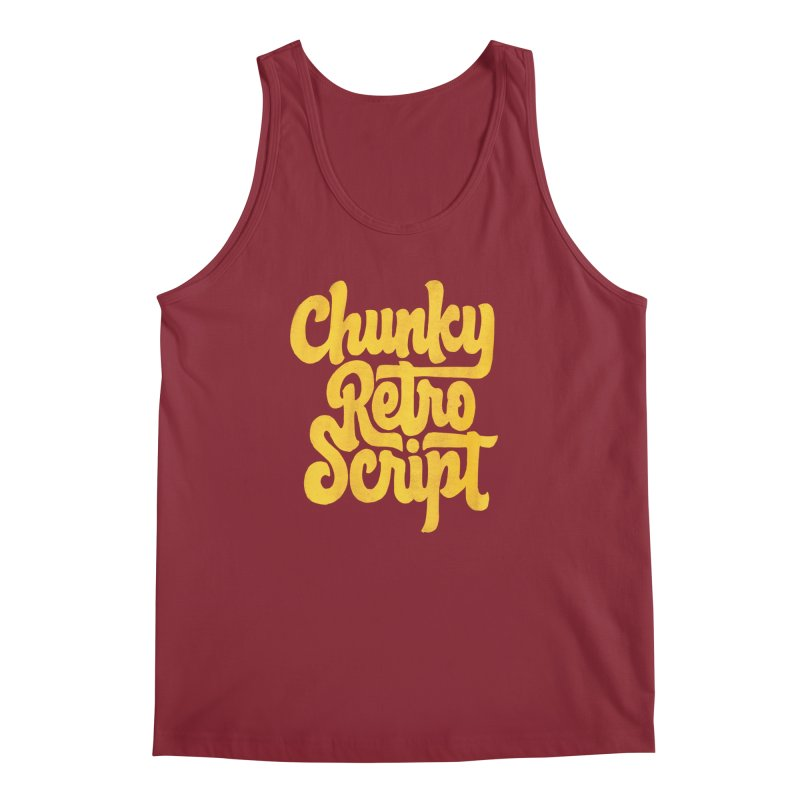 Chunky Retro Script Men's Tank by dandrawnthreads