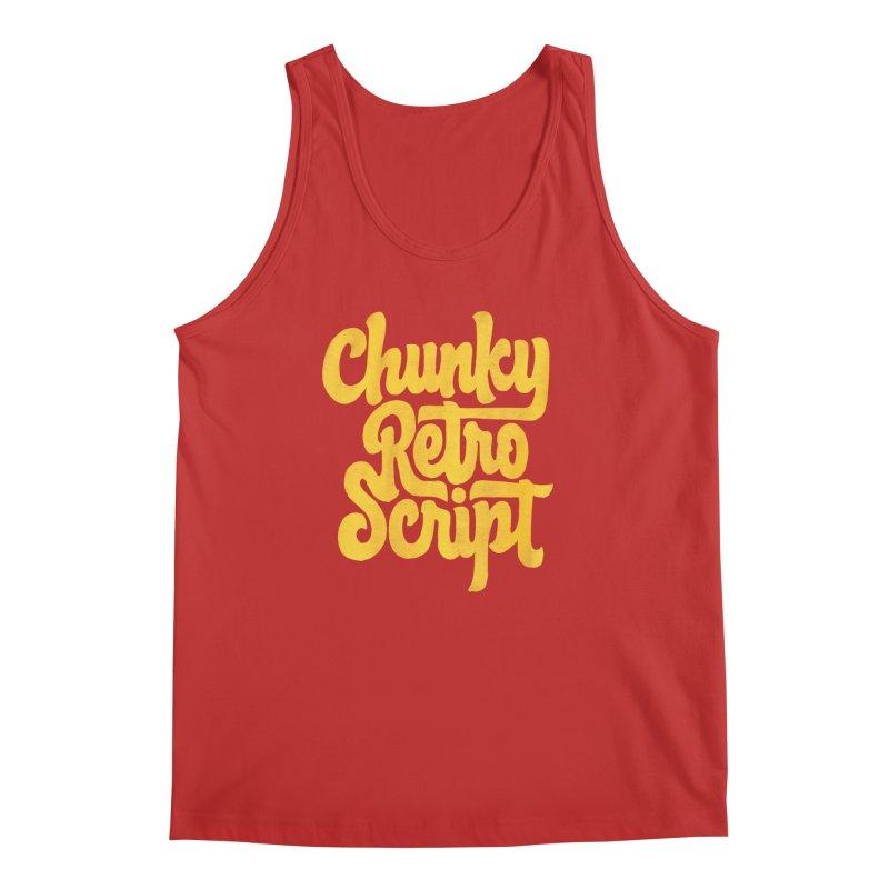 Chunky Retro Script Men's Regular Tank by dandrawnthreads
