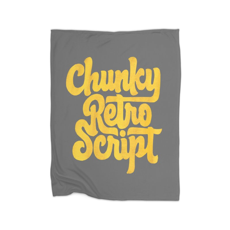 Chunky Retro Script Home Blanket by dandrawnthreads