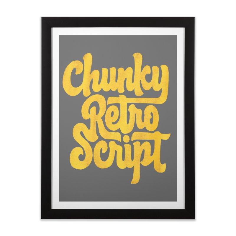 Chunky Retro Script Home Framed Fine Art Print by dandrawnthreads