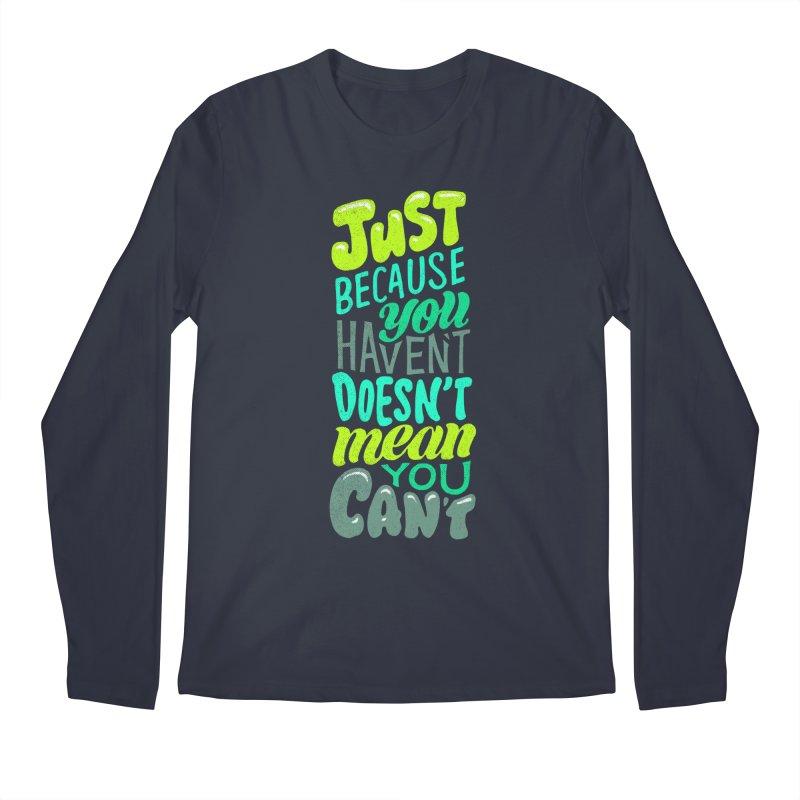 Try New Things Men's Regular Longsleeve T-Shirt by dandrawnthreads