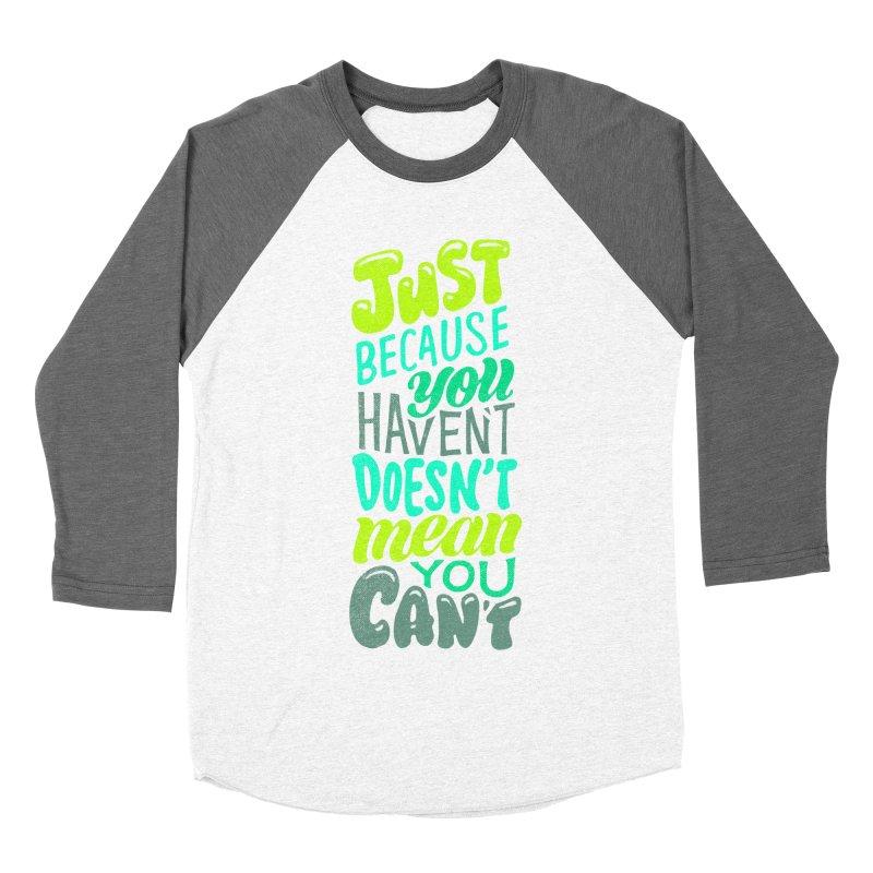 Try New Things Women's Baseball Triblend Longsleeve T-Shirt by dandrawnthreads