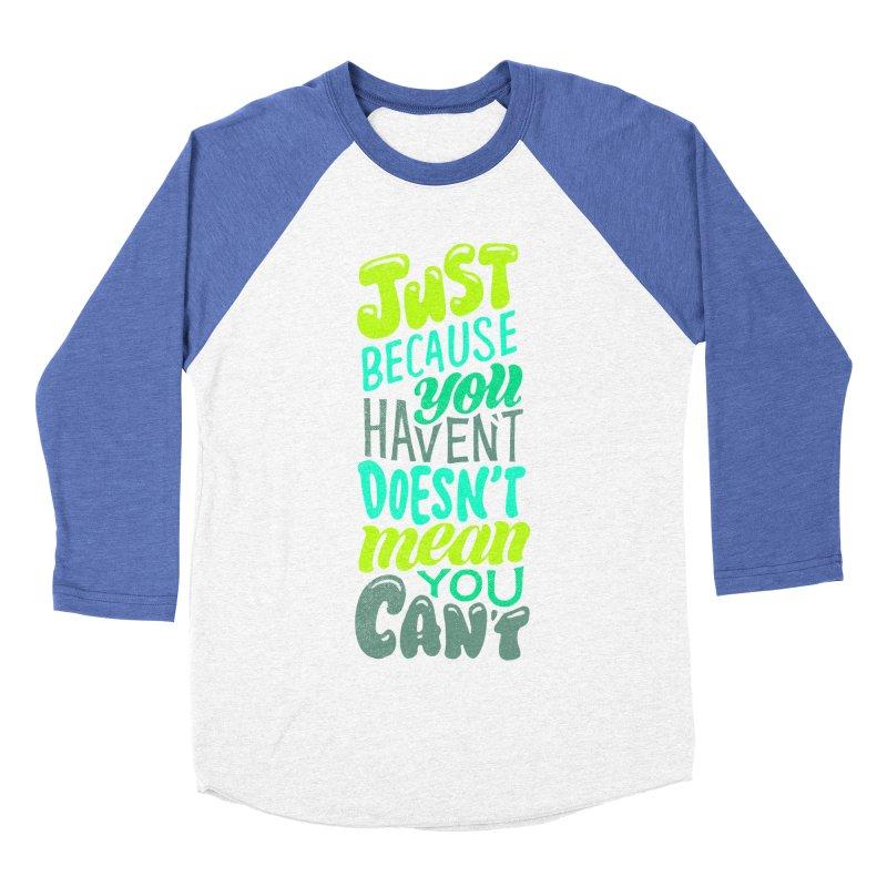 Try New Things Men's Baseball Triblend Longsleeve T-Shirt by dandrawnthreads