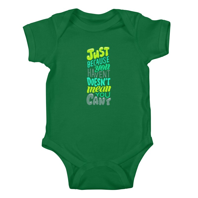 Try New Things Kids Baby Bodysuit by dandrawnthreads