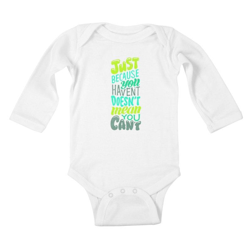 Try New Things Kids Baby Longsleeve Bodysuit by dandrawnthreads