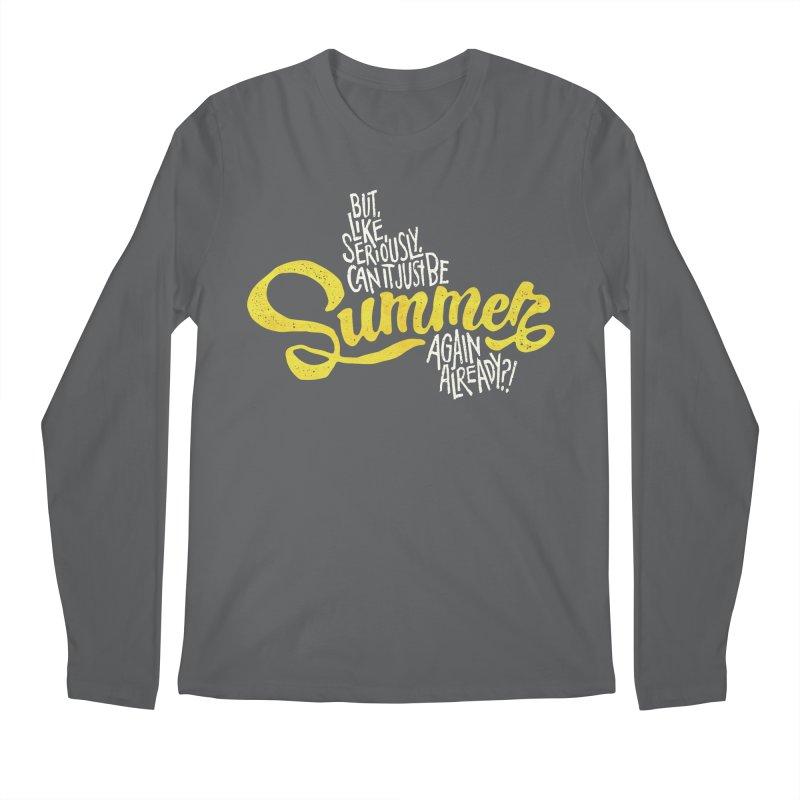Beach Season Men's Regular Longsleeve T-Shirt by dandrawnthreads