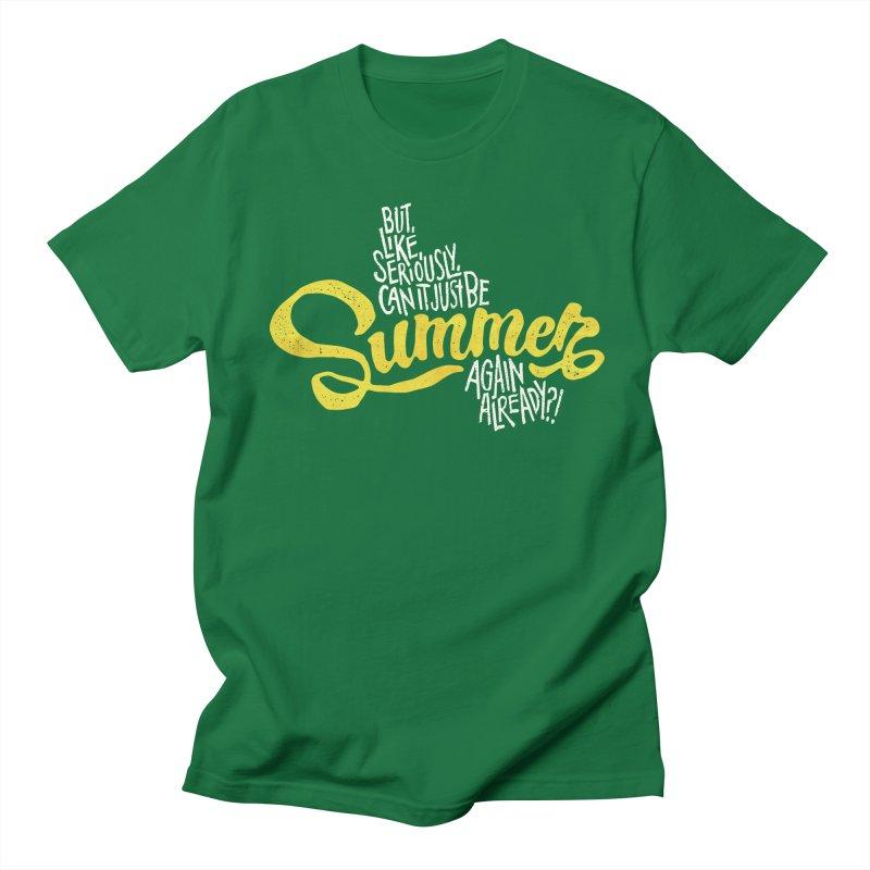 Beach Season Men's Regular T-Shirt by dandrawnthreads