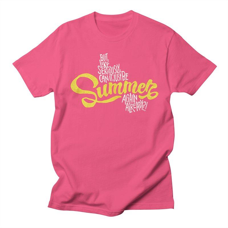 Beach Season Men's T-Shirt by dandrawnthreads