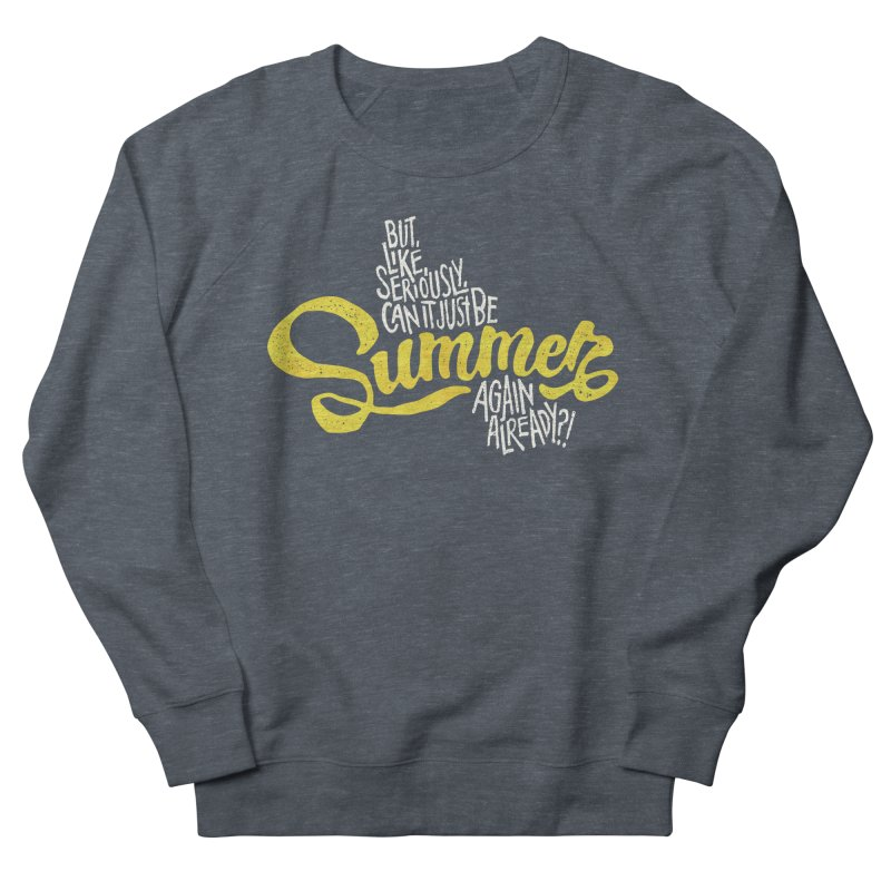 Beach Season Men's French Terry Sweatshirt by dandrawnthreads