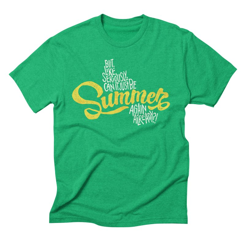 Beach Season Men's Triblend T-Shirt by dandrawnthreads
