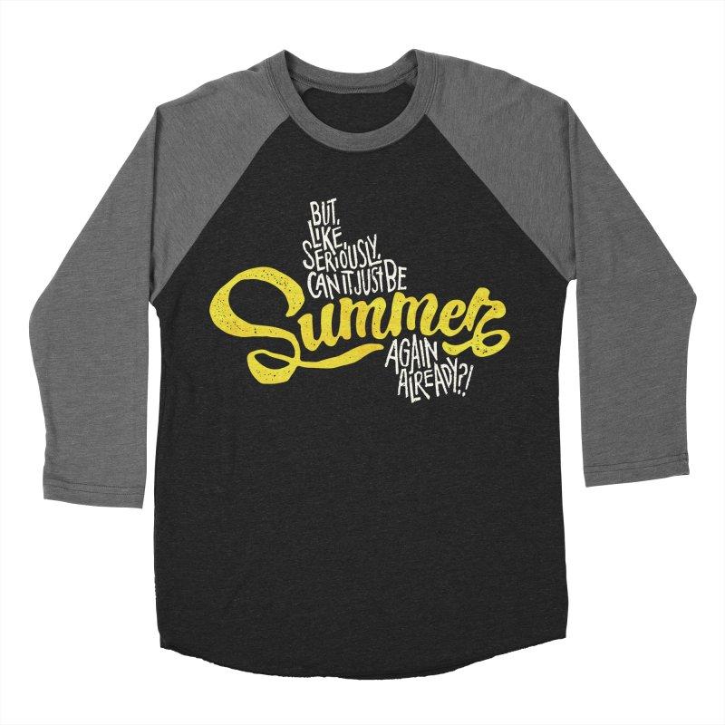 Beach Season Women's Baseball Triblend Longsleeve T-Shirt by dandrawnthreads