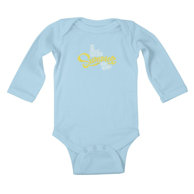 Beach Season Kids Baby Longsleeve Bodysuit by dandrawnthreads