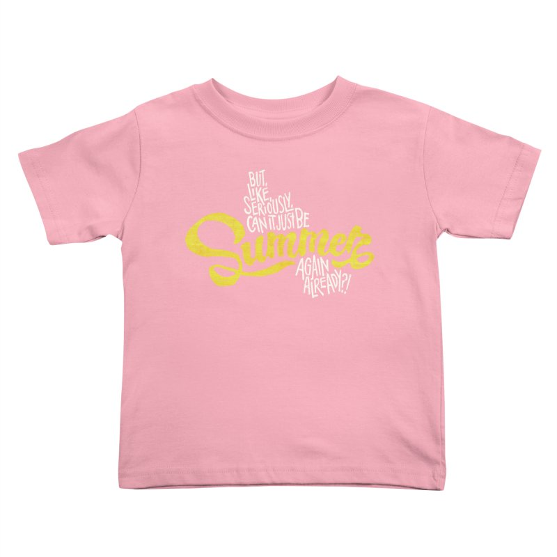 Beach Season Kids Toddler T-Shirt by dandrawnthreads