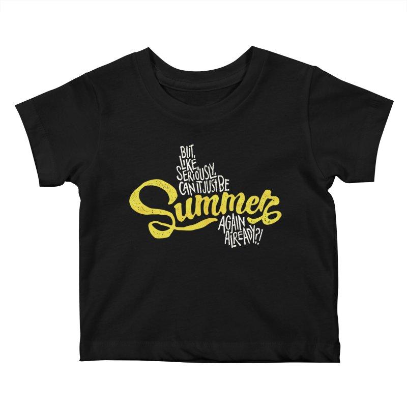 Beach Season Kids Baby T-Shirt by dandrawnthreads