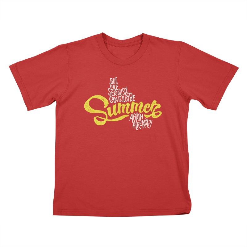 Beach Season Kids T-Shirt by dandrawnthreads