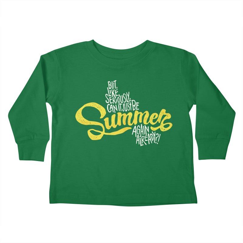 Beach Season Kids Toddler Longsleeve T-Shirt by dandrawnthreads