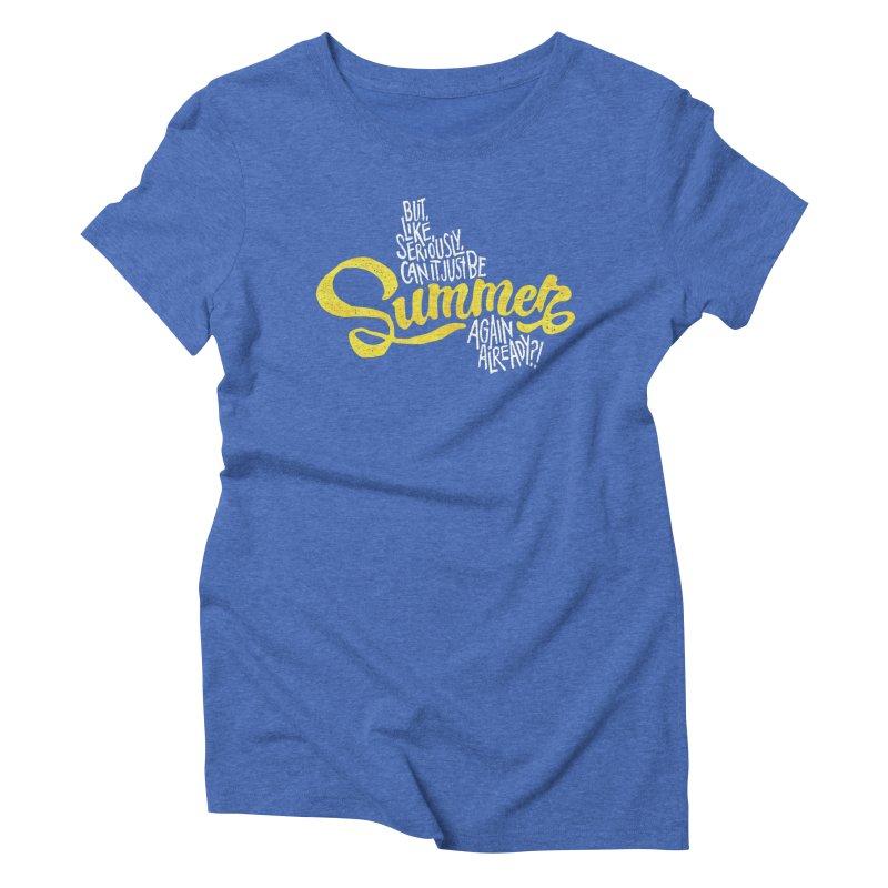 Beach Season Women's Triblend T-Shirt by dandrawnthreads