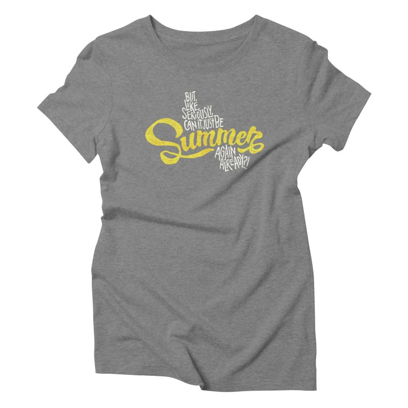 Beach Season Women's Triblend T-Shirt by dandrawnthreads