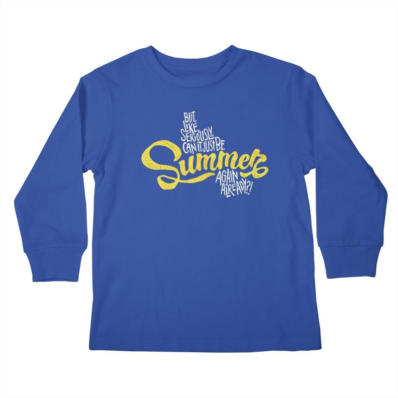 Beach Season Kids Longsleeve T-Shirt by dandrawnthreads
