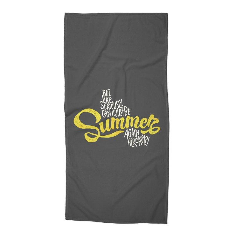 Beach Season Accessories Beach Towel by dandrawnthreads