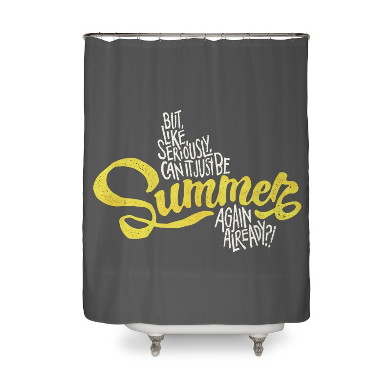 Beach Season Home Shower Curtain by dandrawnthreads