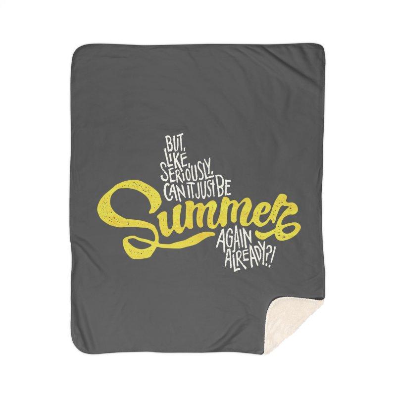 Beach Season Home Sherpa Blanket Blanket by dandrawnthreads
