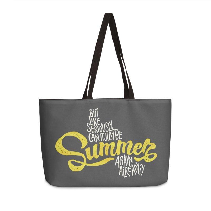 Beach Season Accessories Weekender Bag Bag by dandrawnthreads