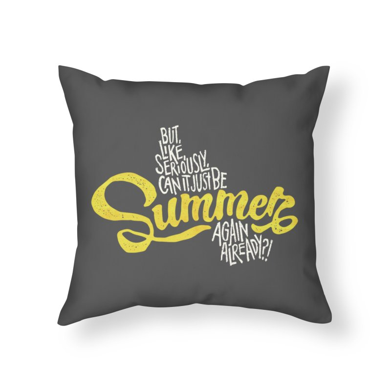 Beach Season Home Throw Pillow by dandrawnthreads
