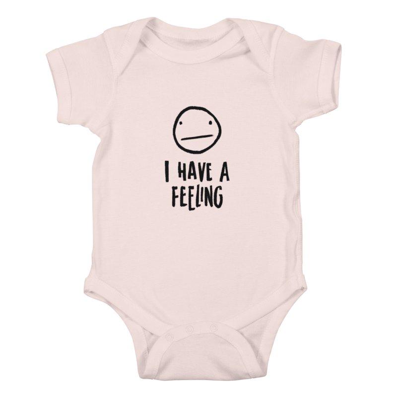 Neutral Face Kids Baby Bodysuit by dandrawnthreads