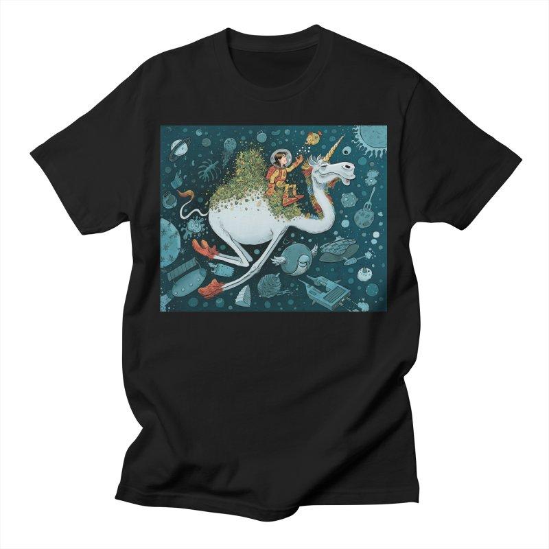 Space Camel Men's T-Shirt by Danesh's Artist Shop