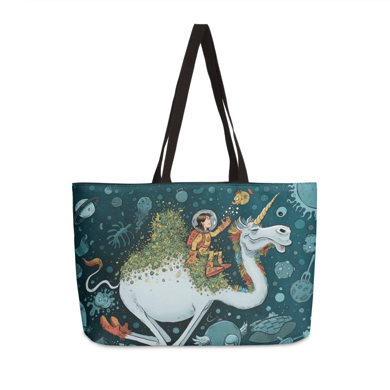Space Camel Accessories Bag by Danesh's Artist Shop