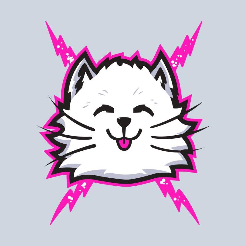White Electric Cat Men's T-Shirt by Danger Huskie Danger Team