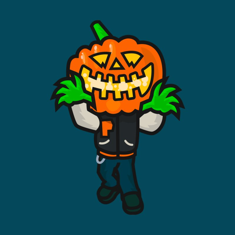 Varsity Pumpkin Creepin Men's T-Shirt by Danger Huskie Danger Team