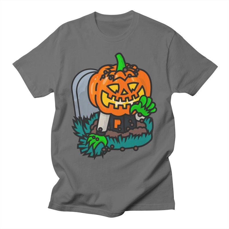 Varsity Pumpkin Grave Men's T-Shirt by Danger Huskie Danger Team