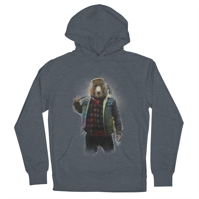 Blizzard Bear Men's French Terry Pullover Hoody by daniac's Artist Shop